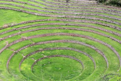 The circular agricultural terraces of Moray.