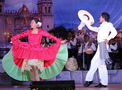 Dancers performing La Marinera, Peru's national dance.