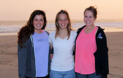 Maria, Gina and Malaina on the beach at Kawai.
