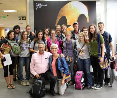 The Fantastic 15 in the Lima airport shortly before departing for the United States on April 6, 2014.