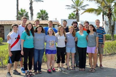 The Peru SST unit for Spring 2014: (front row): April, Maria, Aimee, Gina, Natalie, Malaina, Gretchen and (back row) Jake, Thomas, Dean, Derek, Neal,  Jonathan, Caleb and Jackson.