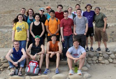 A group photo in front of the Great Pyramid.