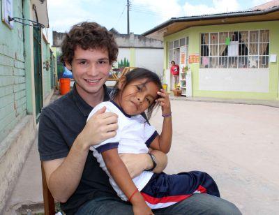 Brody and a friend at Jardín de Ninos Los Jazmines preschool.