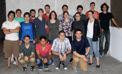 Students pause for a group photo on the sixth floor of the Museo de la Nacion.