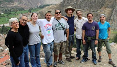 Peru SST Co-Directors for 2013-2014 Judy Weaver and Richard R. Aguirre with the Fall unit: Becca, Alan, Jacob, Landon, Rudy, Joshua and Lauren.