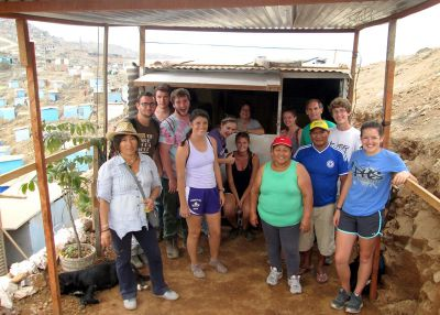 We pose in front of Alicia and Oswaldo's new home-in-process in Villa Maria.