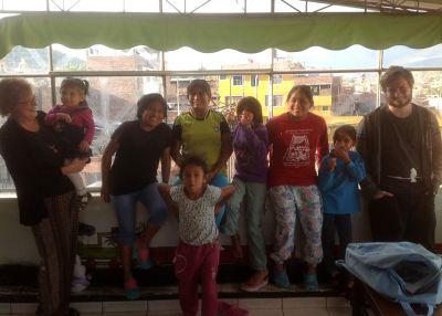 Ammon with some of the 21 children at Casa Luz.