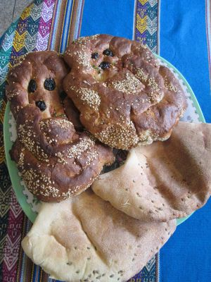 Chapla and Wawa breads are favorites in Ayacucho, especially at Joanna's house.