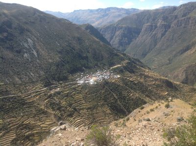 The town of Vito, deep in the Andes.