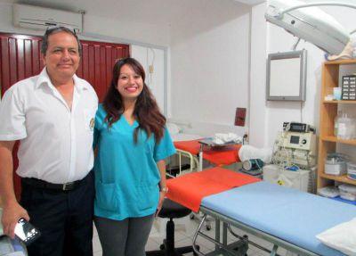 Jessica with Dr. Elera at Clinica Elera.