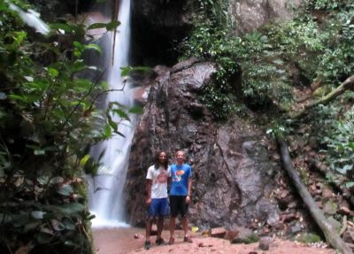 Josh and Michael by the Kimo area waterfalls.