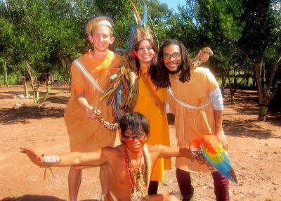 Jess, Michael, josh in native dress 6-2015crpd