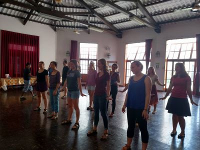 A dance lesson!