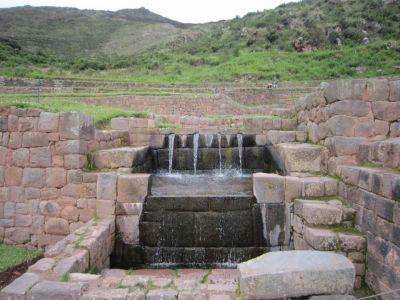 The Incas were geniuses with water engineering