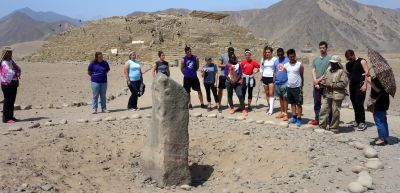 This rock stood in a central plaza and was part of a sundial.