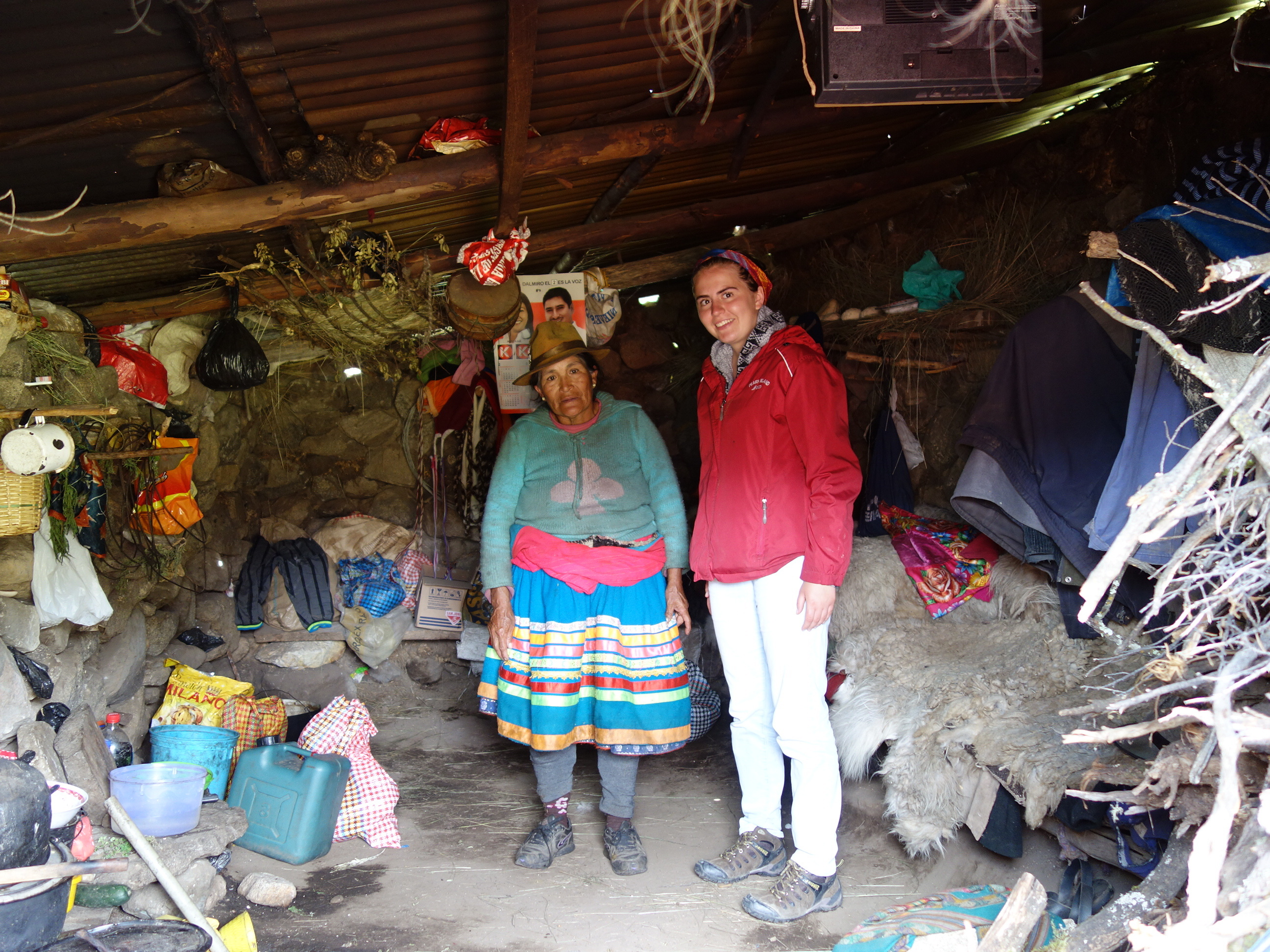 Inside The Hut Notice The Alpaca Hide Blankets And Tv Peru Sst