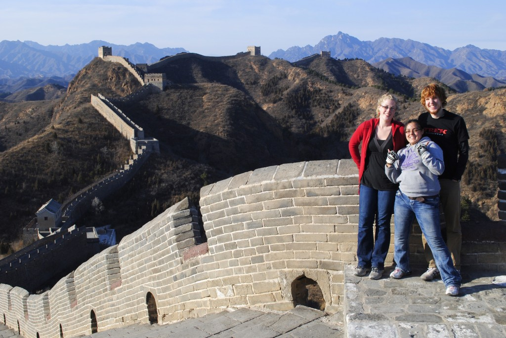 Visiting the Great Wall of China is part of one of the service abroad programs