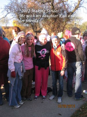 Julie and Kali with friends at Making Strides 2012