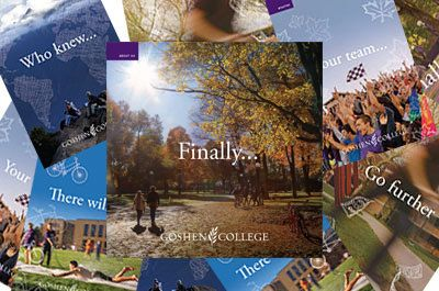 Goshen College viewbooks offer information on academics, campus community life, spiritual life, intercultural education, sustainability and study abroad.