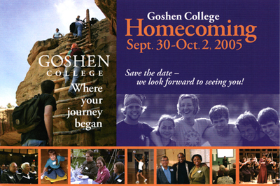 Goshen College announces 2005 Culture for Service Award honorees and launches Decade of Servant Leadership Award, to be given during Homecoming Weekend