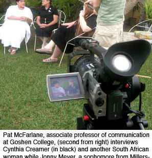 Student film team discovers church plays vital role in South Africa