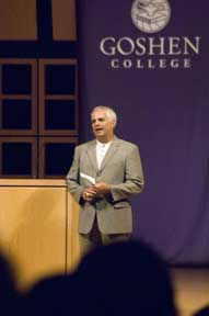 Goshen College president opens school year with a call to embrace core values