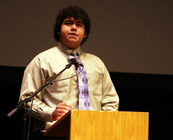 Speech about migrant farm workers wins this year's peace oratorical contest