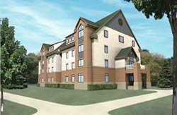 Construction breaks ground on new campus apartments for senior students at Goshen College