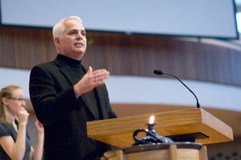 Brenneman calls for new 'school of thought' at Goshen of positive engagement in the world