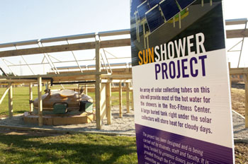 Sun showers will pour from Goshen College's Rec-Fitness Center