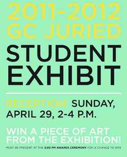 Student artwork up for judging at juried art show
