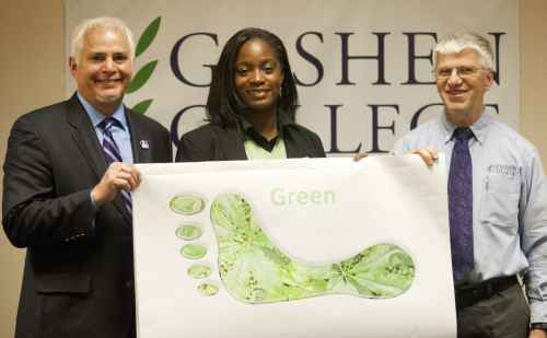 Goshen College electricity to be supplied by 100 percent green energy
