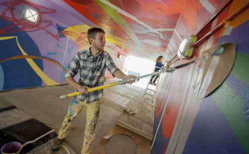 Goshen College train underpass to get a splash of color