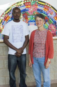 Jan Bender Shetler and Oscar Kirwa