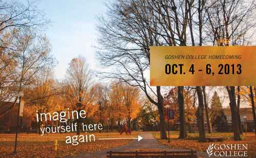 Goshen College Homecoming Weekend, Oct. 4-6, has something for everyone