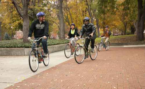 Gearing up for college: prospective students can experience Goshen College by bike