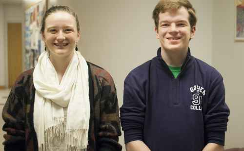 Two Goshen College students earn first place at statewide singing competition