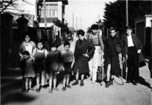 Villa children in street