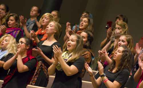 Women's World Music Choir to perform home concert after spring break tour, March 2