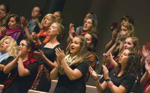 Goshen College women's choir celebrates a decade of world music