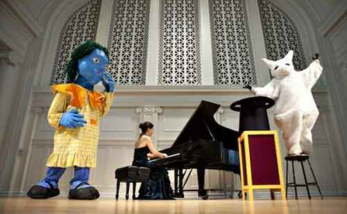 Local pianist and boys and girls club bring puppets to life through music