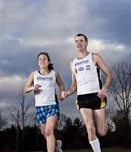 Melissa Gillette '05, winner of the fourth annual Kalamazoo Marathon – The Elkhart Truth