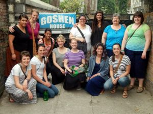 Goshen College nursing students in Nepal
