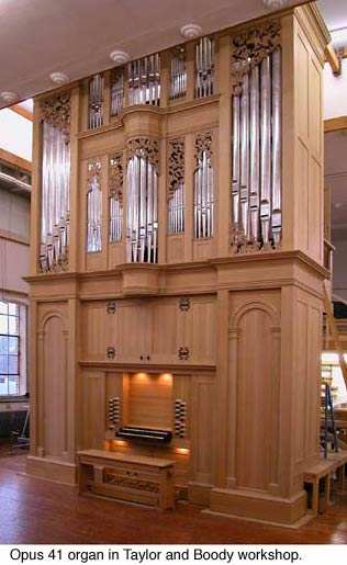 New organ, Opus 41, features recently discovered tuning