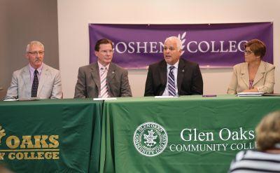 Goshen College kicks off partnership with Glen Oaks Community College to offer RN to BSN program in Centreville, Michigan