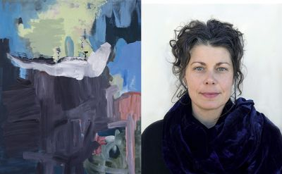 Ann Marie Nafziger '94 paintings on display during Homecoming Weekend