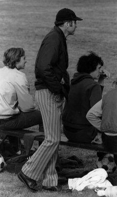 John Ingold coaches a soccer match
