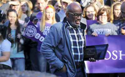 TODAY Show's Al Roker stops at Goshen College in world record attempt
