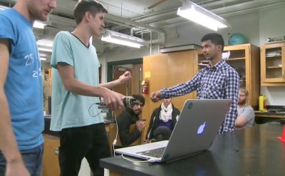 Goshen College students design electronics to aid the deaf and blind – WNDU
