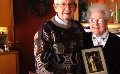 Luther '38 and Geneva '40 Shetler celebrate 75th wedding anniversary